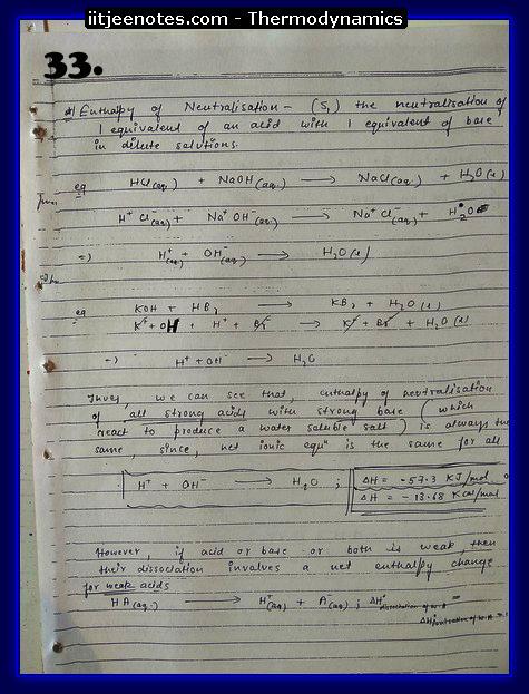 Thermodynamics Notes IITJEE 1