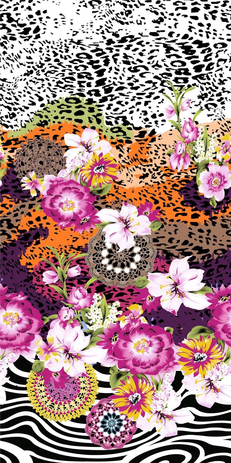 Blisse design studio hand drawn flower design digital print 1 for Decorator pattern