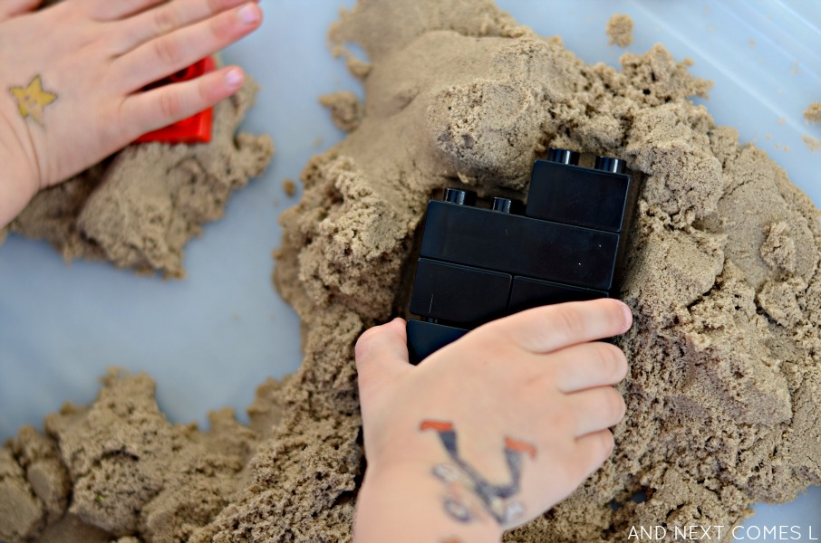 Kinetic sand activity for kids from And Next Comes L