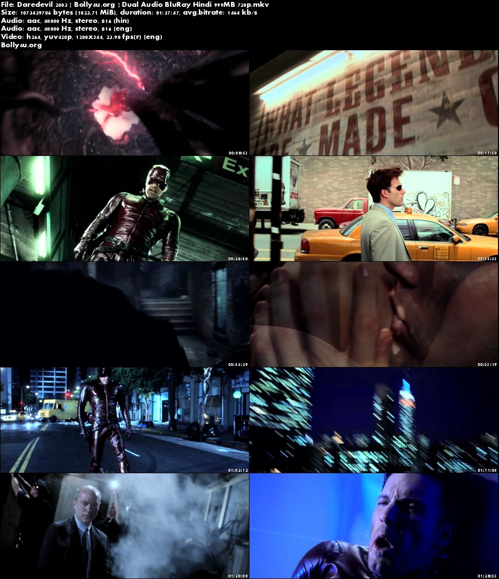 Daredevil 2003 BluRay 300MB Hindi Dual Audio 480p Download