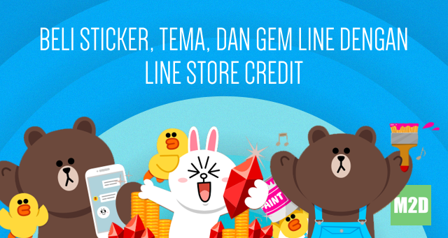 Membeli Sticker, Tema, dan Gem LINE dengan LINE Store Credit