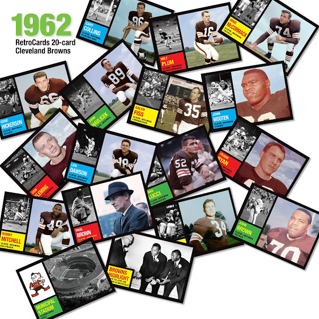 Topps, football cards, RetroCards, custom cards that never were, Cleveland Browns