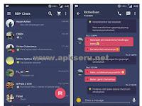 Download BBM Flat Retro Pink V2.13.1.14 Apk (BBM Mod Android)