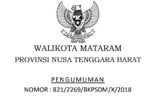 Pengumuman Hasil Seleksi Administrasi Kota Mataram