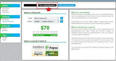 neobux placing ads