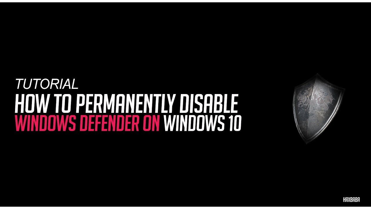 how do i disable windows defender permanently