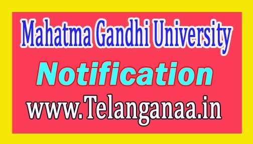 Mahatma Gandhi University MGU PG III Semester Examination Fee Notification 2016