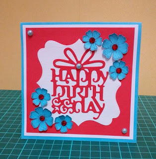Red White And Blue Birthday Card