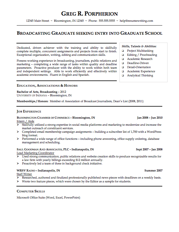 college resume template - Free College Resume Builder