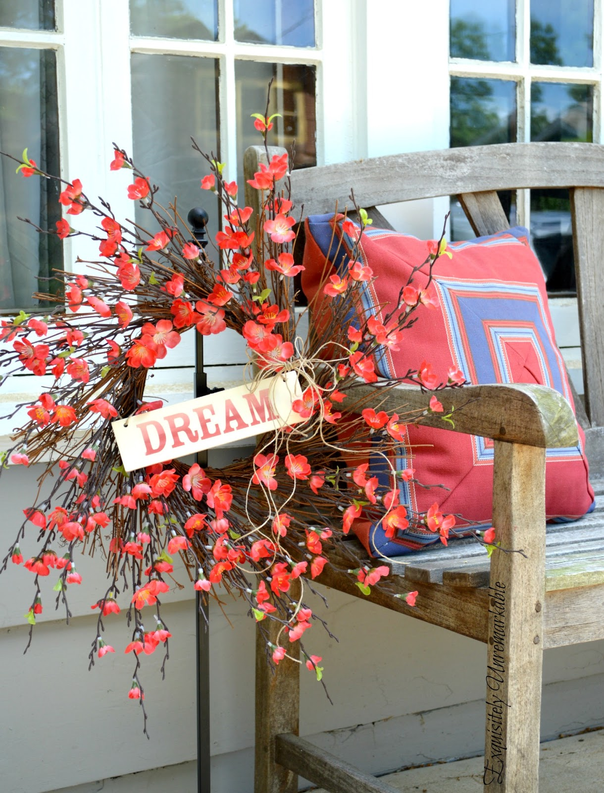 Easy Summer Sticker Sign Wreath
