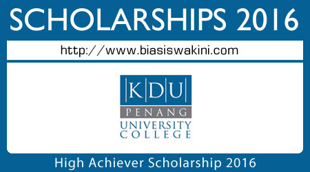 High Achiever Scholarship 2016