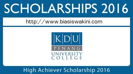 High Achiever Scholarship 2016