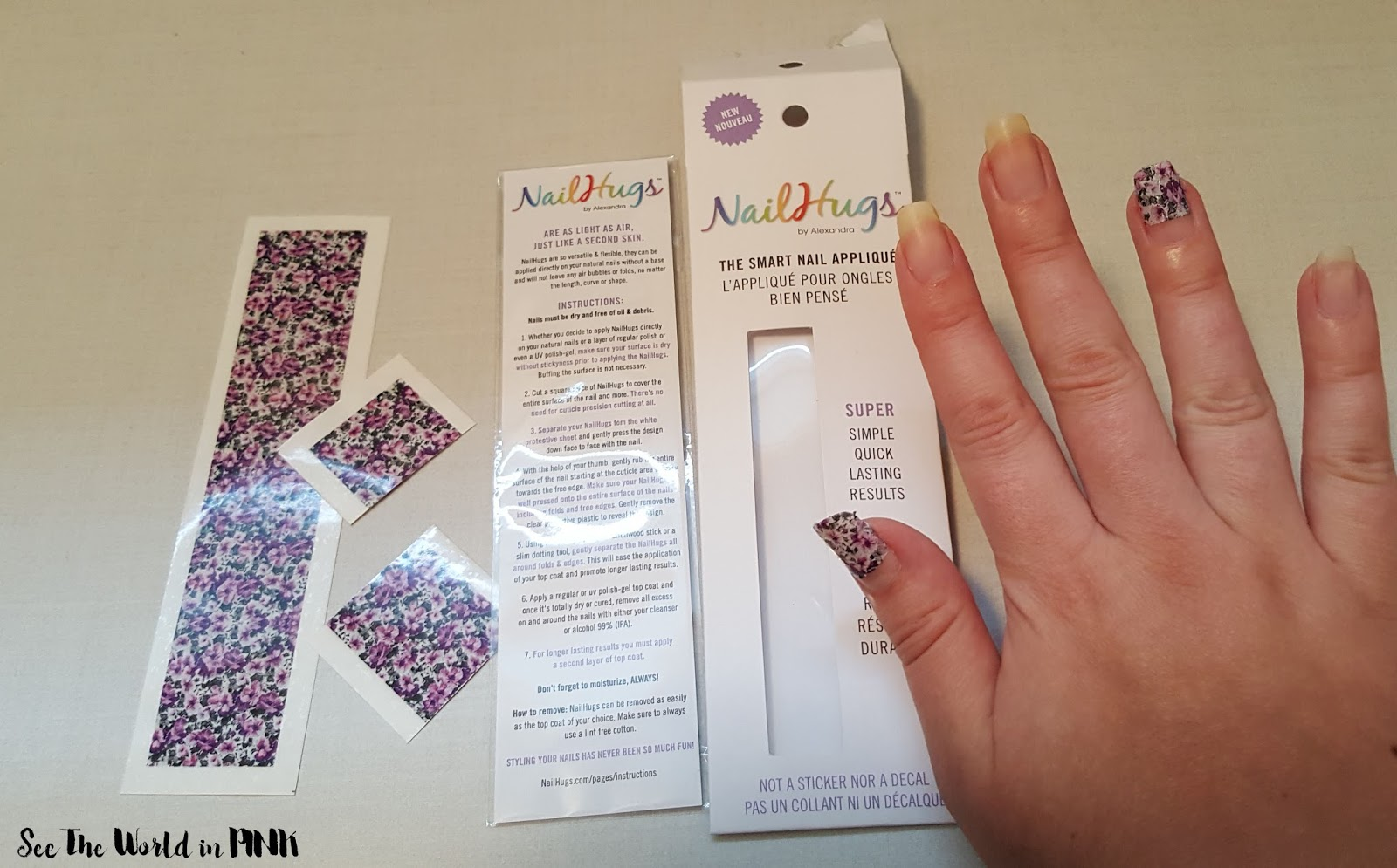 Manicure Monday - Negative Space Manicure with Nail Hugs Appliques (with a quick review!)