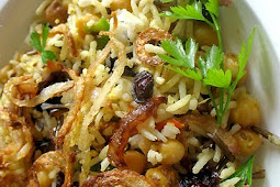 Chickpeas with White and Wild Rice, Cranberries and Spices