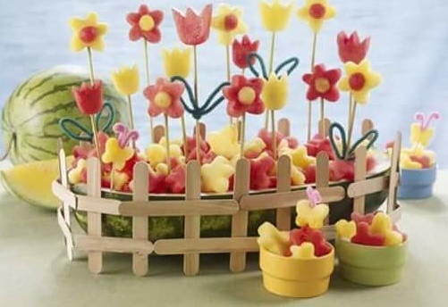 Cantiknya, gubahan bunga dari buah.