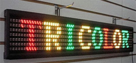 color or monochrome LED Sign design
