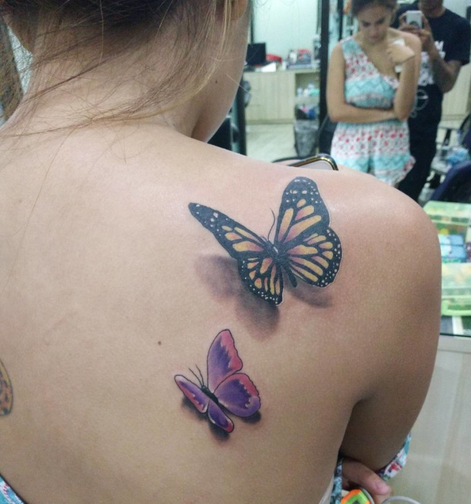 Mytattooland.com: 3D Butterfly Tattoos