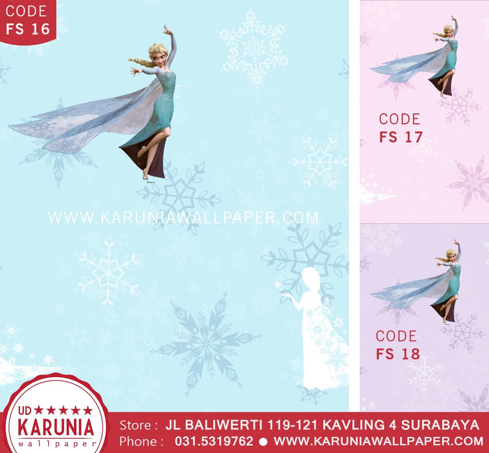 jual wallpaper dinding disney elsa frozen karuniawallpaper surabaya