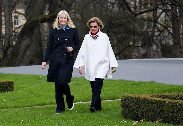 Queen Sonja and Crown Princess Mette-Marit - TV-Aksjonen charity launch for the Red Cross Oslo, Norway Style, dresses, wedding dress, diamond earrings