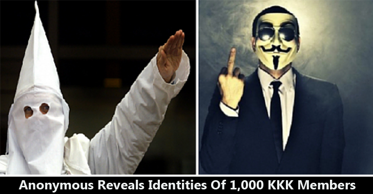 Anonymous Group Leaks Identities of 1000 KKK Members