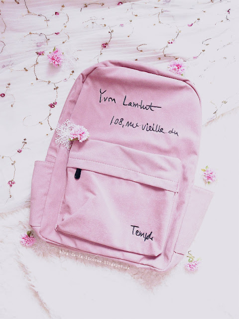 Stylish Letter Embroidery Backpack