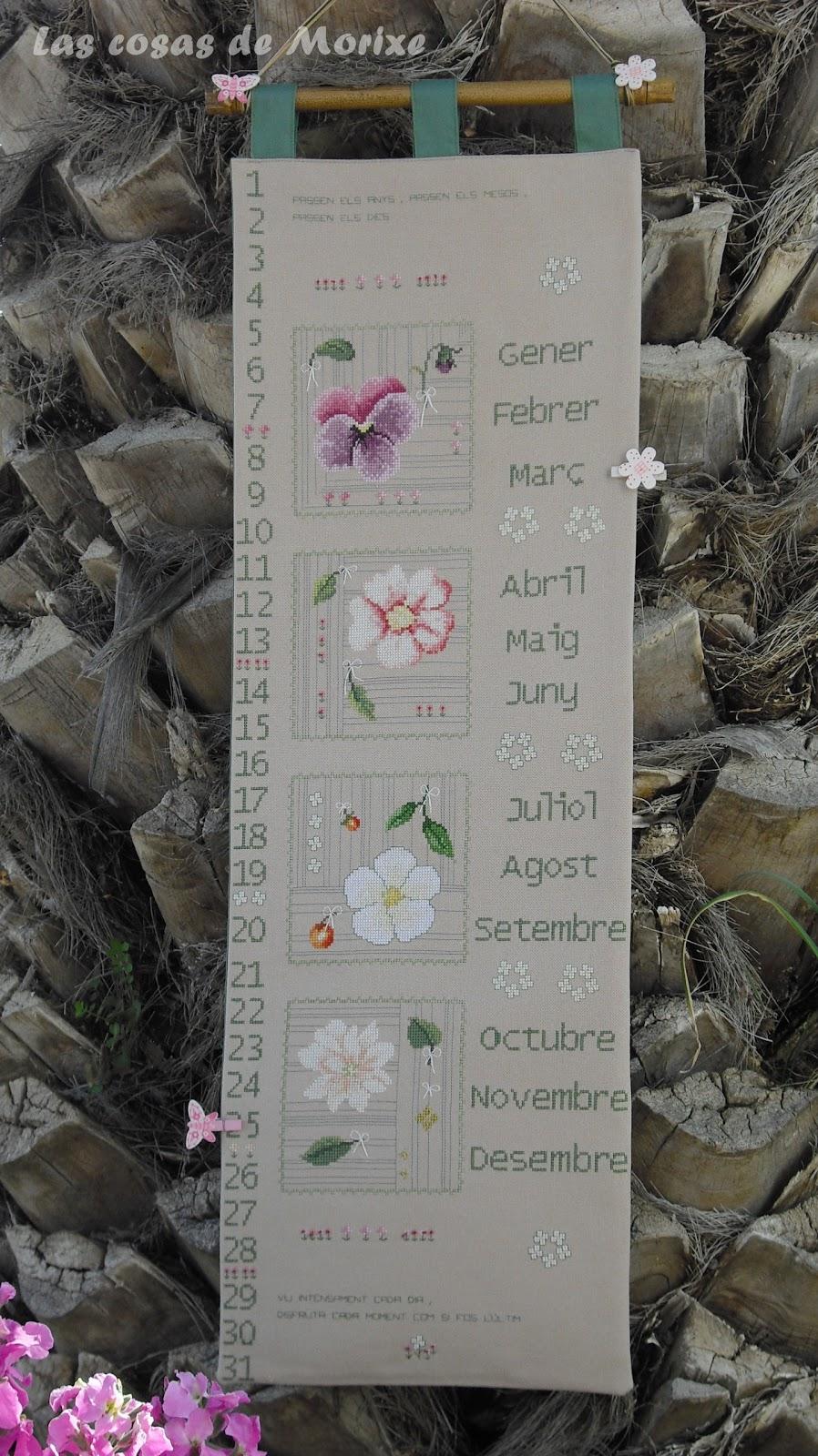 Al Final De La Palmera Calendario.Artmorixe Labores Y Manualidades Un Calendario Para Mi Casa