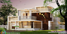 Contemporary Style Home Architecture 3000 Sq-ft - Kerala