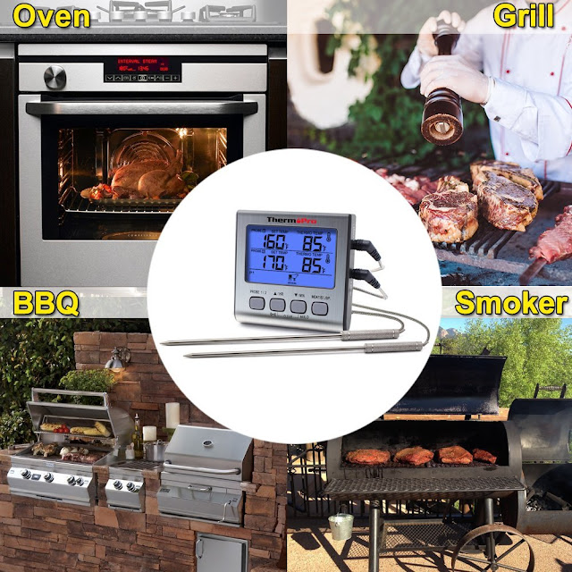 thermopro tp17 meat food oven bbq thermometer