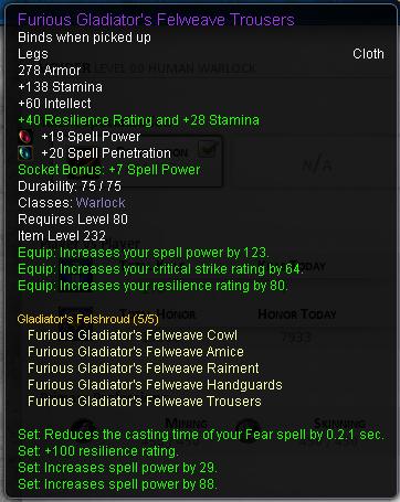Warlock spell penetration