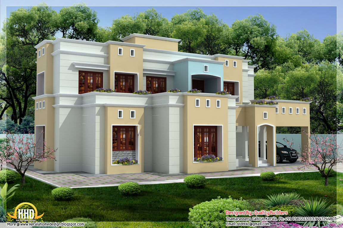 2300 box shaped flat roof home design kerala home Simple house designs indian style