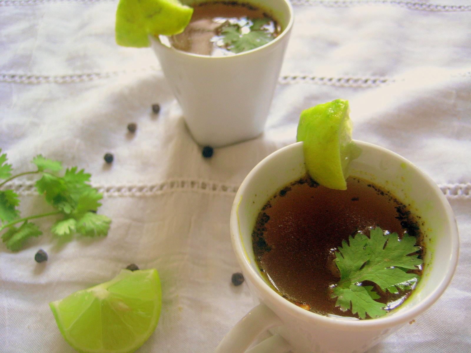 madhuri's kitchen: Lemon Rasam / Lemon Soup / Nimmakaya ...