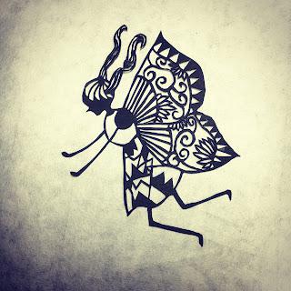 蝶の少女の切り絵