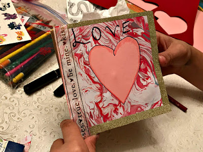January 21, 2018 Crafting with our granddaughters