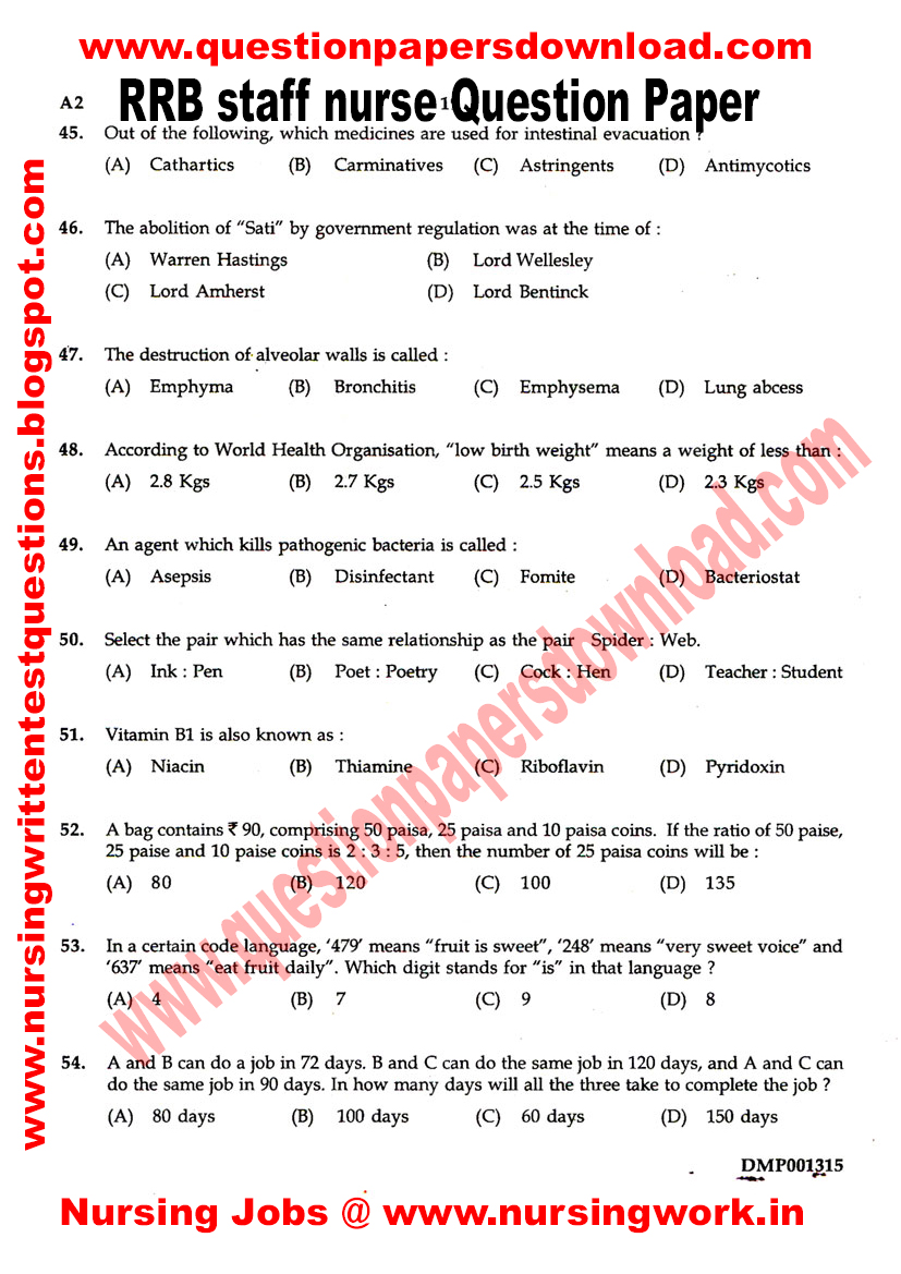staff nurse question paper pdf riley resume guide staff nurse question paper pdf