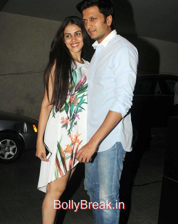 Riteish Deshmukh, Genelia D'Souza, Dia Mirza Hot Pics at 'Tanu Weds Manu Returns' Special Screening