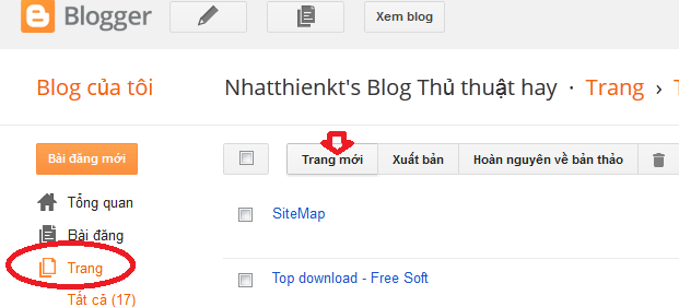 Tạo sitemap cho blogspot đẹp theo Lable