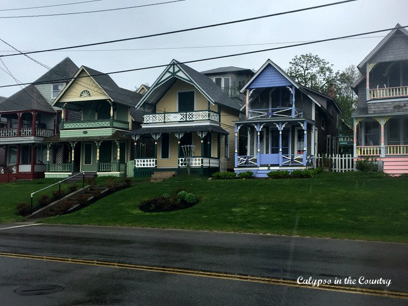 Row of Gingerbread Houses in Oak Bluffs