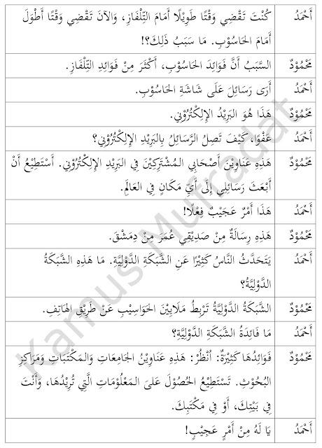 percakapan bahasa arab tentang internet dan artinya