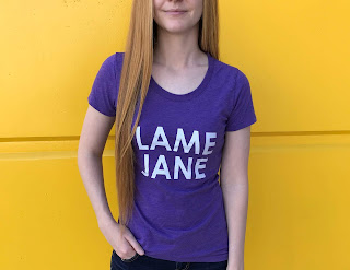 purple graphic tee from lame jane