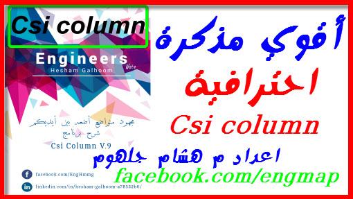أقوي مذكرة احترافية لشرح برنامج Csi Column