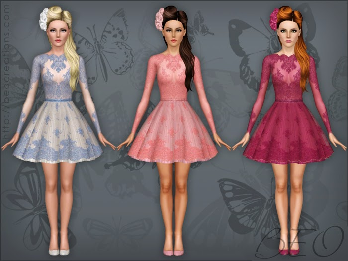 My Sims 3 Blog: Lace Dress By BEO