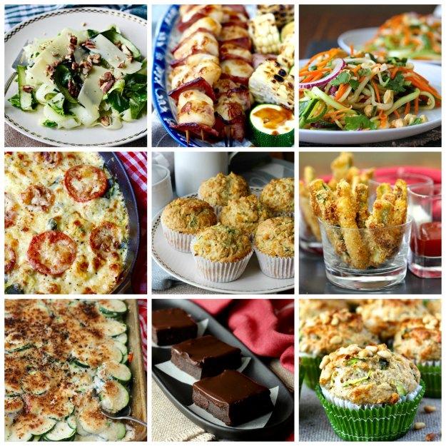 Nine recipes using zucchini