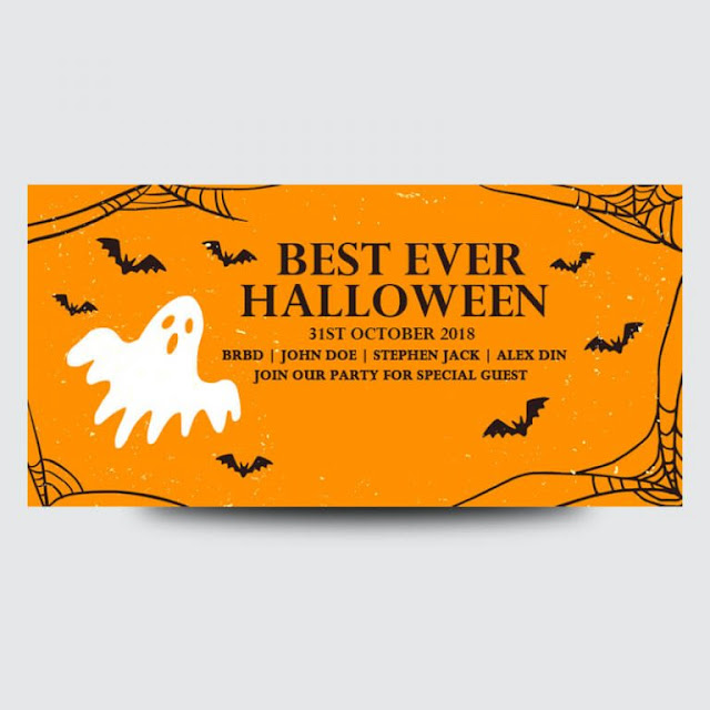 Free Halloween Banners Psd Template