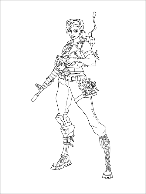This is a picture of Fortnite Coloring Pages Printable for tracing