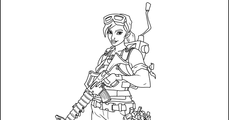 Carbide Fortnite Coloring Page Www Picswe Com