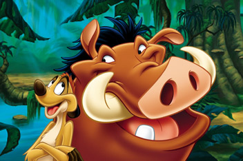 ... do Timon e Pumba