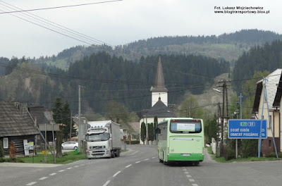 Droga E77, Słowacja, miejscowość Podbiel, Irisbus Crossway 10,6 z firmy SAD LIORBUS