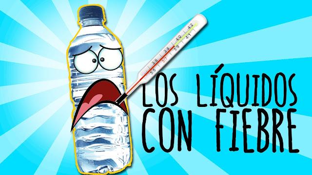 experimentos, liquidos, fiebre, alcohol, agua, mezcla
