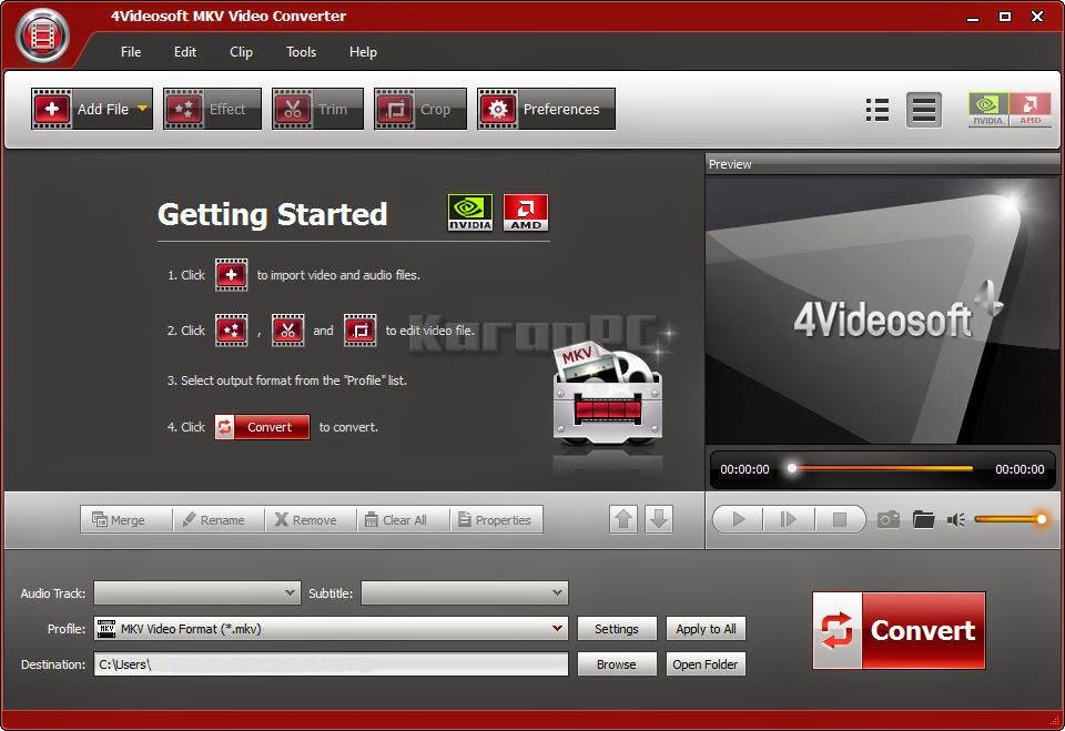 Get 4Videosoft MKV Video Converter crack