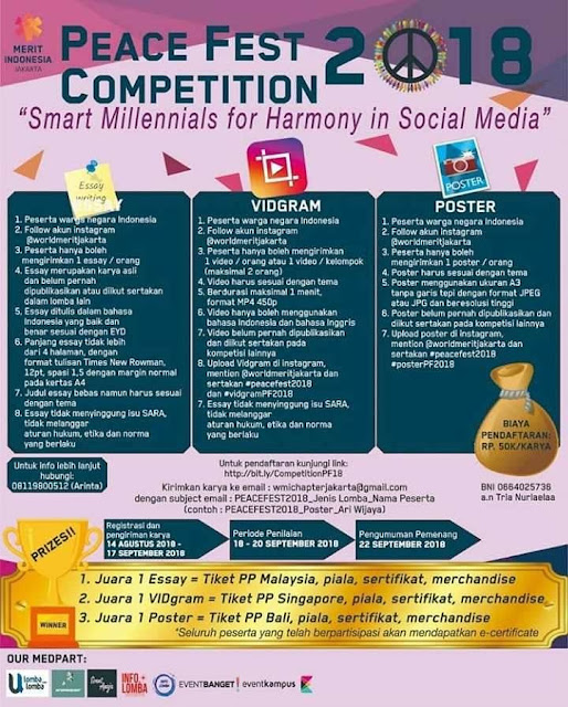 Contest Peace Fest Competition 2018